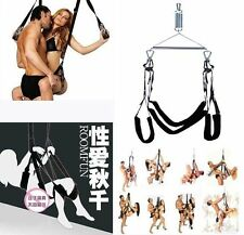 NEW Black Sexy Fantasy Love Swing Sling Game Furniture Couples Appeal Tools