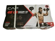 CAP 40 Lb Adjustable Dumbbell Cast Iron Weight Set