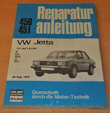 VW Jetta 1,5l 1,6l S LS GLS LI GLI ab 1979 Handbuch OVP Reparaturanleitung B450