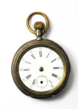 Swiss Cylindre 10 Rubis 800 Fine Pocket Watch Not Running 46mm Two Tone