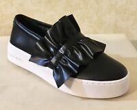 Women MK Michael Kors Bella Slip On Sneaker Loafer Leather  Black MSRP $120