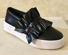 0a8aeb5f31b Women MK Michael Kors Bella Slip On Sneaker Loafer Leather Black MSRP  120