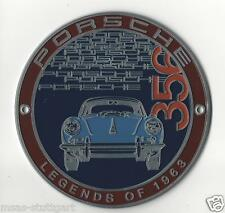 PORSCHE 356 GRILL BADGE Club PLACCA Legends of 1963 Ltd. Edition NUOVO