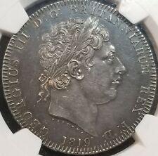 Great Britain 1819 LIX George III Silver Crown MS 61 NGC Nice