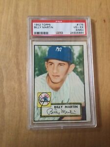 1952 Topps #175 Billy Martin * ROOKIE ** PSA 4 (MC) Red Back!