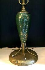 Vintage Mid Century Modern MCM Satellite Atomic Lamp Green Gold Ceramic Sputnik