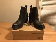 Dr Marten Magdalena Black Leather Heeled Boots! UK9! New! Only £89,90!