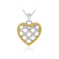 Echte Diamanten-Halsketten & -Anhänger aus Gelbgold mit Herz