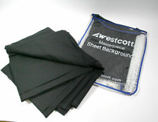 WESTCOTT 5718 BLACK MASTERPIECE SHEET BACKGROUND 10' X 12' FOR VIDEO PHOTOGRAPHY