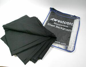 WESTCOTT 5718 BLACK MASTERPIECE SHEET BACKGROUND 10' X 12' FOR VIDEO PHOTOGRAPHY