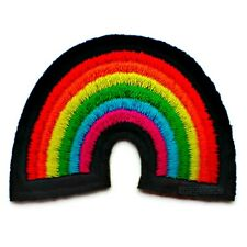 PATCH AUFNÄHER REGENBOGEN RAINBOW WOLKE CLOUD PEACE AUFBÜGLER ROCKABILLY 3/85