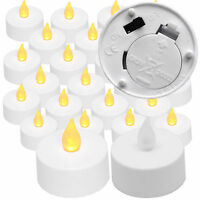 New Flickering Amber 24 pack Light Flameless LED Tealight Tea Candles Wedding