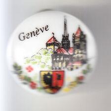 RARE PINS PIN'S .. TOURISME BLASON ARM PORCELAINE EGLISE GENEVE SUISSE ~BX