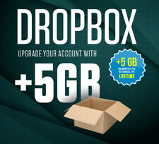 Upgrade existing Dropbox account with 5GB lifetime space