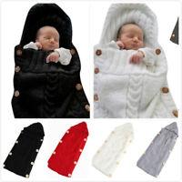 Newborn Baby Winter Wrap Swaddle Blanket Knit Sleep Bag Sleep Sack Stroller Wrap