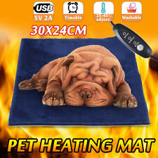 Pet Heat Pad Puppy Electric Heated Warm Mat Dog Cat Whelping Heating Bed Blanket