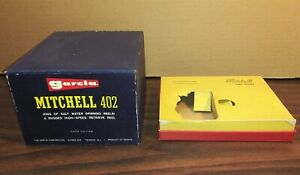 Vintage box GARCIA MITCHELL FISHING REEL 402 advertising package display sports