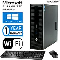 FAST Hp QUAD CORE i5 4570 Desktop Computer PC 16GB 256GB SSD WIFI Windows 10 PRO