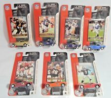 Fleer Lot of 7 NFL 1:55 Scale Cars & Cards Football Collectible Cars & Cars
