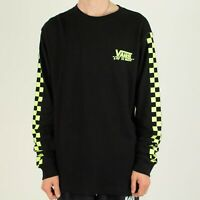 Vans BMX Waffle Check Thermal Long Sleeve T-Shirt Top – Black in M,L,XL