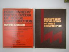 HOMEOWNERS' ENCYCLOPEDIA OF HOUSE CONSTRUCTION By Morris Krieger 1978 HC / DJ