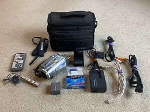 Panasonic PV-GS150 Mini DV Camcorder Working. With Extras.