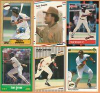 Tony Gwynn 6 card LOT, San Diego Padres, 30+yr old cards, HOF, Nr Mint or better