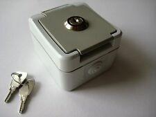 Steckdose Schuko Abschliessbar Feuchtraum Aufputz Außensteckdose AP + Schlüssel