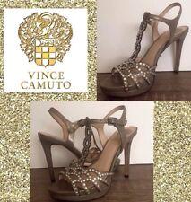 Vince Camuto Cristiana Platform Size 5.5 Womens Rhinestone Ankle Strap Metallic