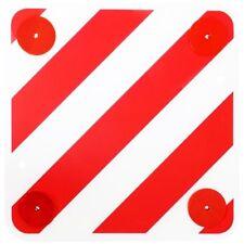 Warntafel 50x50 cm mit Rückstrahlern für Wohnmobil Boot Fahrradträger