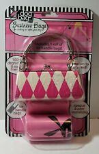 Dog Bag Business Bags pink diamond Purse and pink poop Bags,