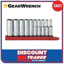 """GearWrench 10 Piece 1/4"""" Drive 12 Point Deep SAE Socket Set - 80309D"""