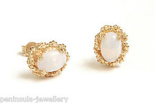 9ct Gold Opal Stud earrings Made in UK Gift Boxed