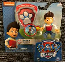 NEW! Paw Patrol RYDER Action Pack Character figure & badge Nickelodeon Toys HTF