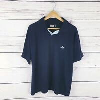PUMA Mens Polo Shirt Navy Blue Cotton Size Large