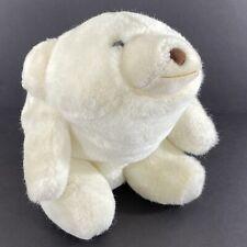 "Vintage 1980 Gund Snuffles White Polar Bear Stuffed Plush Animal Brown Nose 11"""