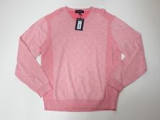 men sweater roundtree and yorke long sleeve v neck x large pink size xl $69.50