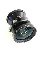Nikon Nikkor SW 75mm f4.5 Copal 0 wide angle lens for 4x5
