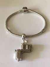 Tattoo Gun TG55 on a silver Rhodium Plated Snake Bracelet