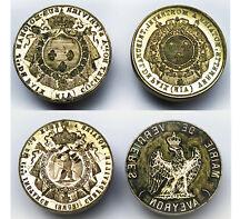 ENSEMBLE 4 MATRICES cachets/Sceaux  Restauration II Empire Bronze