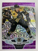 2019-20 O-Pee-Chee Platinum Violet Pixels #19 David Pastrnak 288/399 Boston SP