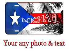 Personalized Perto Rico Flag License Plate Car Tag  Custom any text or Name.