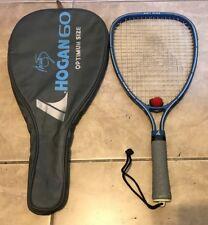 "Marty Hogan 60 Racquetball Racket in original case great shape Gray Blue 19"""