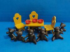 Casa De Muñecas Mesa y sillas con los tres osos (2 conjuntos de osos) Juguete Niño