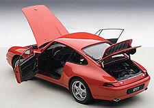 Autoart 1995 Porsche 993 Carrera Red in 1/18 Scale. New Release! In Stock!