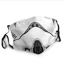 Reusable Star Wars Stormtrooper Face Mask Face covering Stylish Mandalorian
