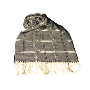 Man Scarf Pashmina Stole Polyester Fringes Coveri Collection 30x170 In Box Brown