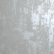 Organic Stone Industrial Concrete Metallic - Grey 902106 - Arthouse Wallpaper