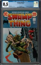 CGC 8.5 SWAMP THING #2 1ST APPEARANCE OF DR ARCANE & PATCHWORK MAN OW PAGES