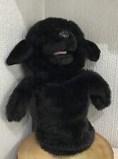 "The Puppet Company Soft Toy Plush Black Labrador Dog Puppy Hand Glove 12"" Large"